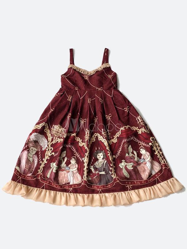 Sweet Lolita Jumper Skirt Kawaii Mrs Cat Lolita JSK