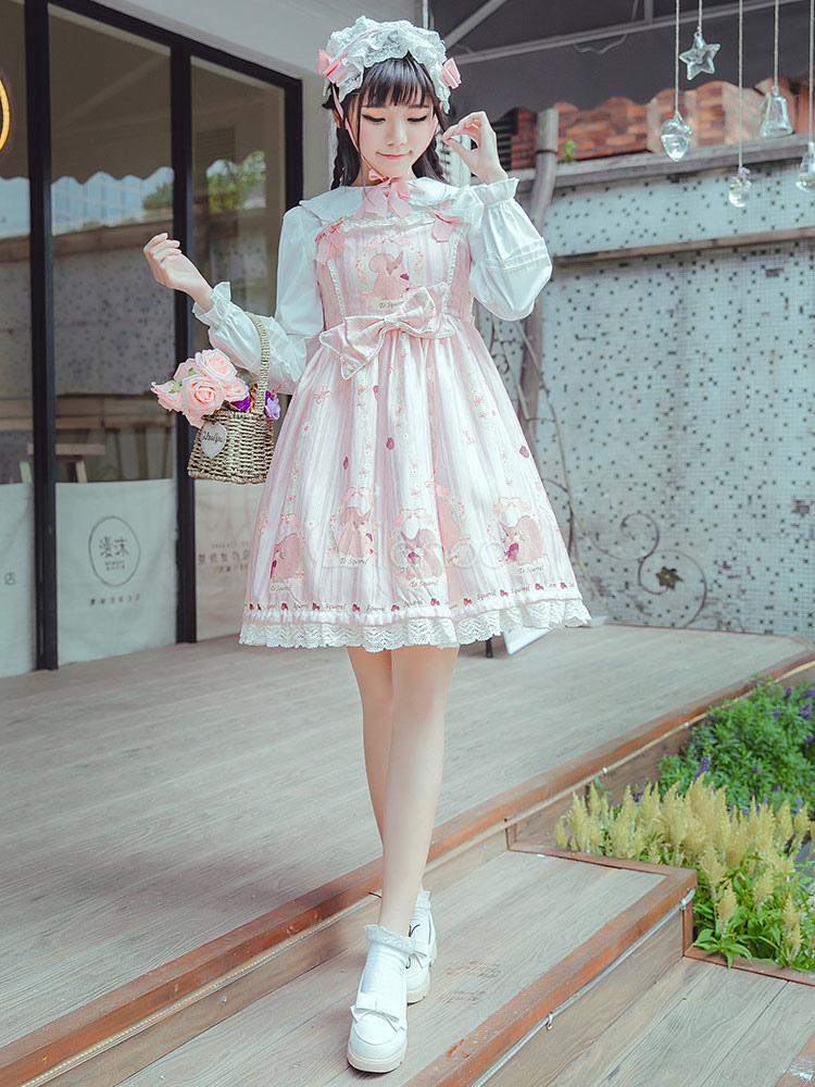 Buy Sweet Lolita Jumper Skirt Pinery Monogatari Sweet Lolita Jsk for $34.19 in Milanoo store