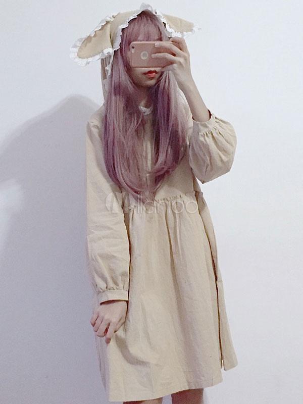 Gothic Lolita One Piece Dress With Bunny Ear Kawaii Lolita Op
