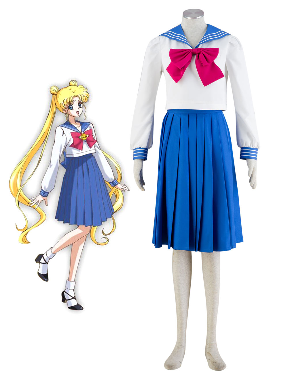 Sailor Moon Tsukino Usagi School Girl Uniform Halloween Cosplay Costume