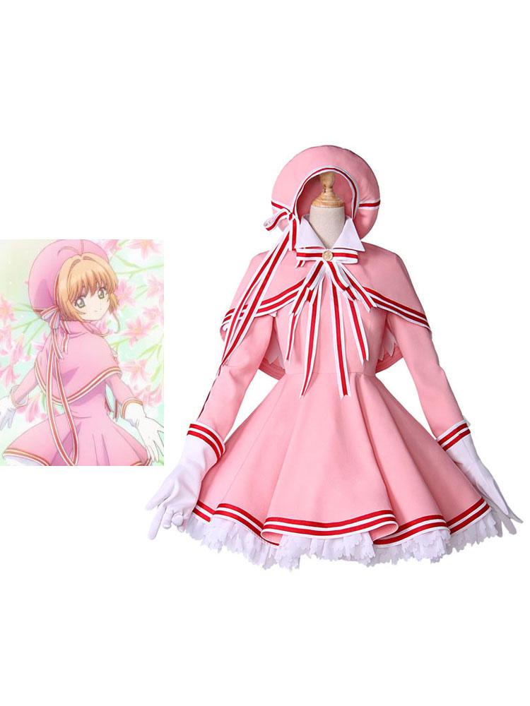 Cardcaptor Sakura Clear Card Kinomoto Sakura Kawaii Lolita Outfit Cosplay Costume