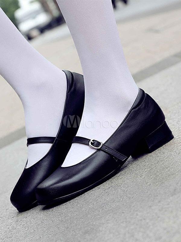 Classic Lolita Footwear Round Toe Black Lolita Mary Jane Shoes