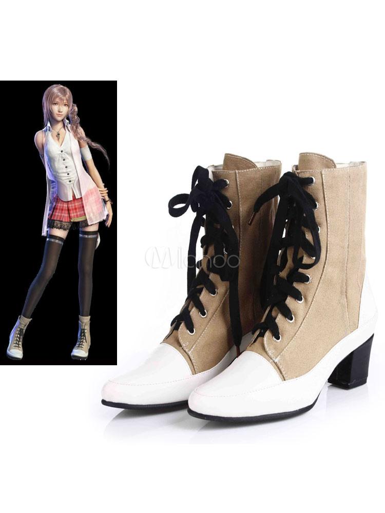 Final Fantasy XIII Serah Farron Halloween Cosplay Shoes