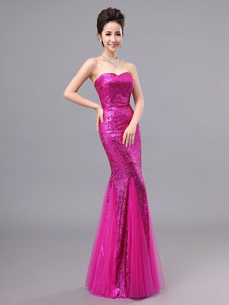 Fantástico Vestido De Fiesta De La Sirena Ideas Ornamento ...