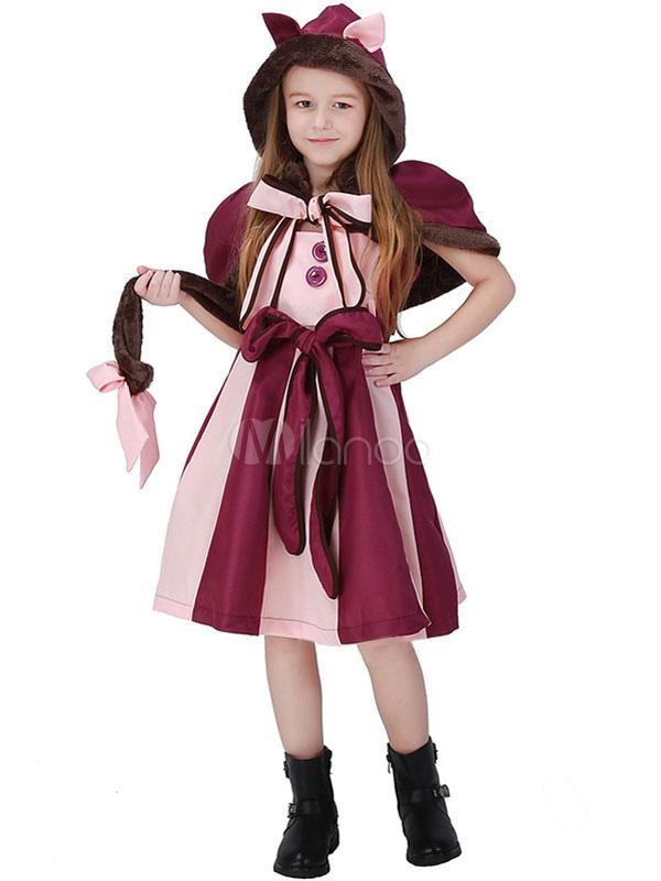 Kinder Karneval Kostum Polyester Polyester Mit Dunkelrot Set Katze