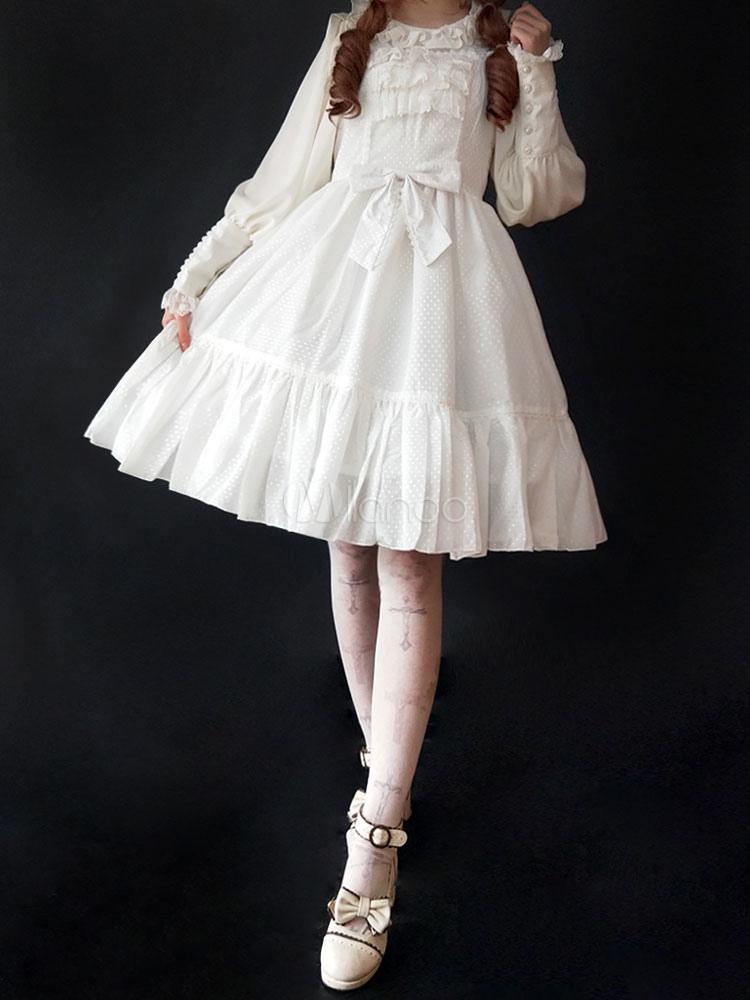 Sweet Lolita Dress JSK Infanta Little Mary Ruffle Bow Frill Lolita Jumper Skirt