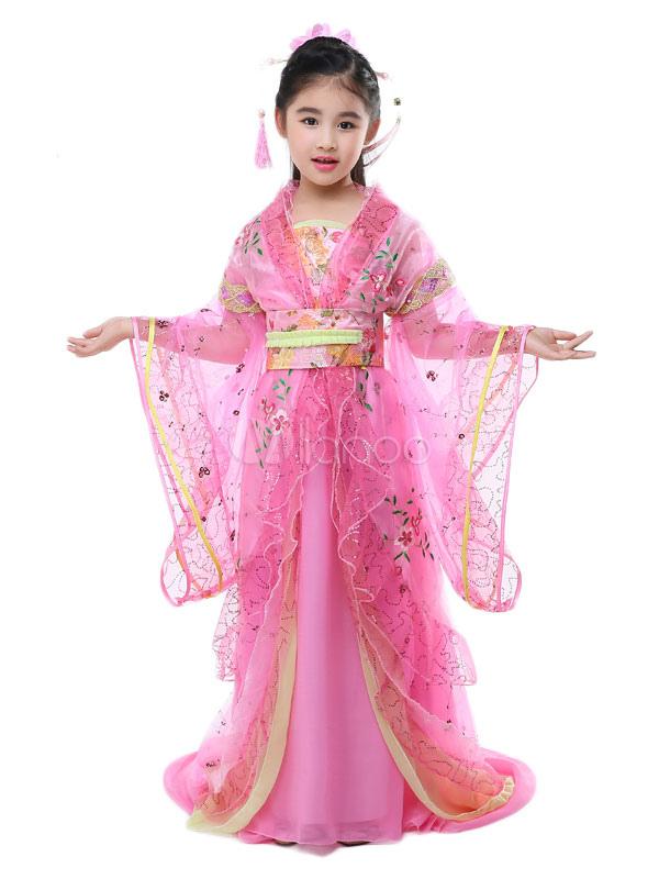 ... Costume tradizionale cinese per bambini Halloween Tulle blu Hanfu vestito  per bambine Tang Dynasty Abbigliamento- ... 5bdc9f1427c1