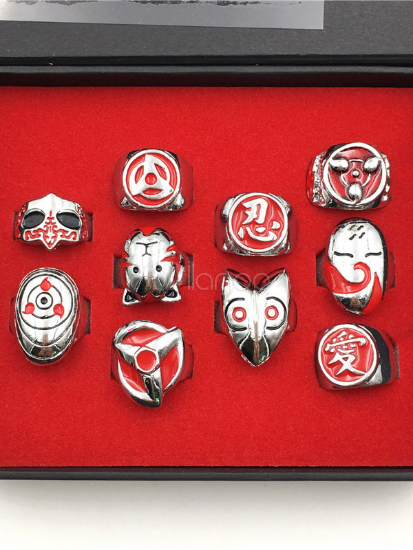 Naruto Anime Cosplay Ring Set In 10 Pics