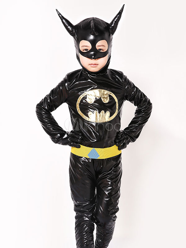 Batman Costume Kids Halloween Black Boys Costume Outfit