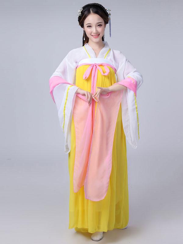 Traje chino tradicional Mujer Gasa Roja Mujeres Hanfu Vestido ...