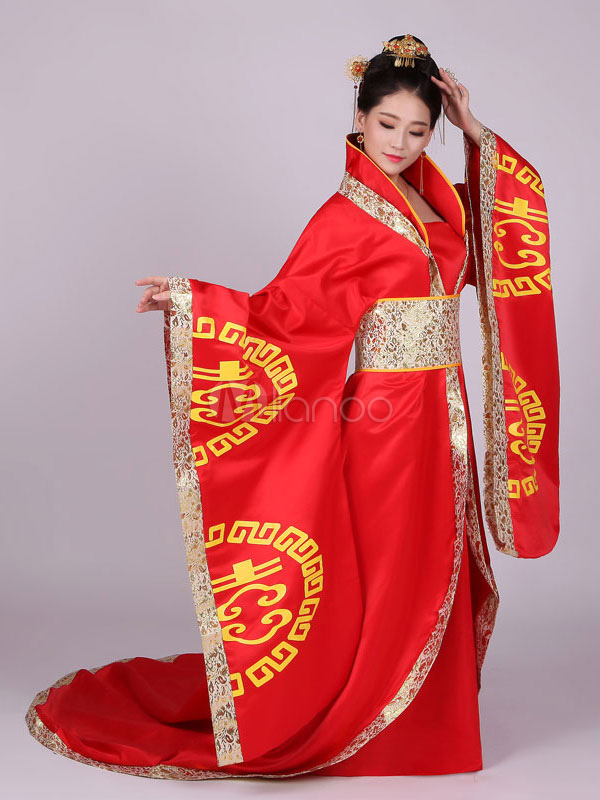 Rojo Satén Chino Clothing Vestido Ancient 3 Mujer Tang Traje Piezas Dynasty Tradicional Hanfu wRBxqCSO