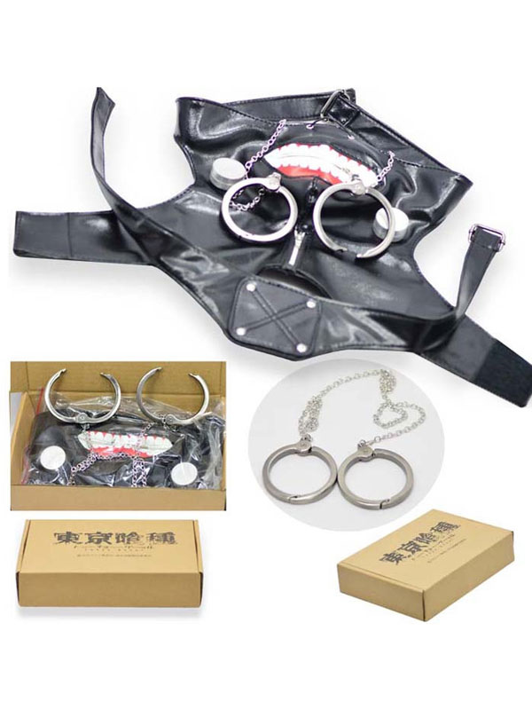 Tokyo Ghoul Kaneki Ken Cosplay Mask Handcuffs Set