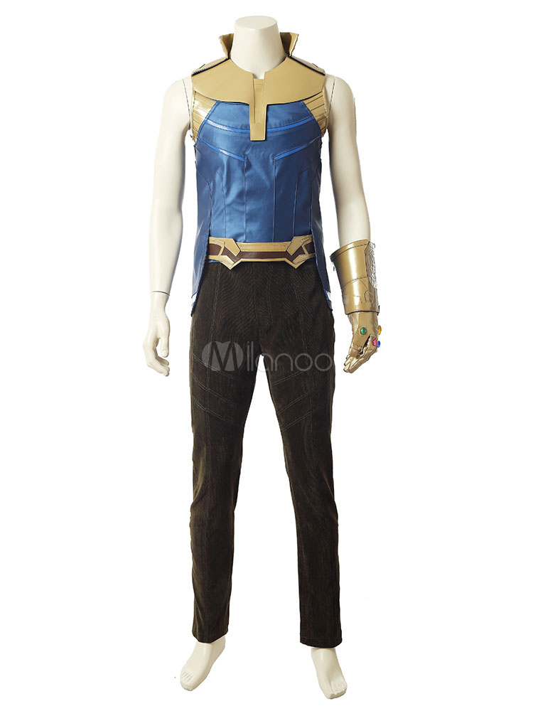 Buy Avengers Infinity War Thanos Halloween Cosplay Costume Marvel Comic Cosplay Costume for $237.59 in Milanoo store