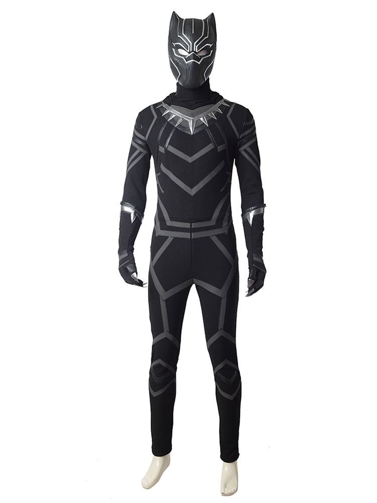 Avengers Infinity War Men/'s Black Panther Halloween Costume Faux Leather Jacket