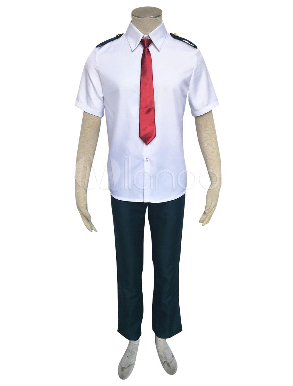 Deku Cosplay Boku No Hero Academy Midoriya Izuku Anime Bnha Cosplay Costume Summer School Uniform
