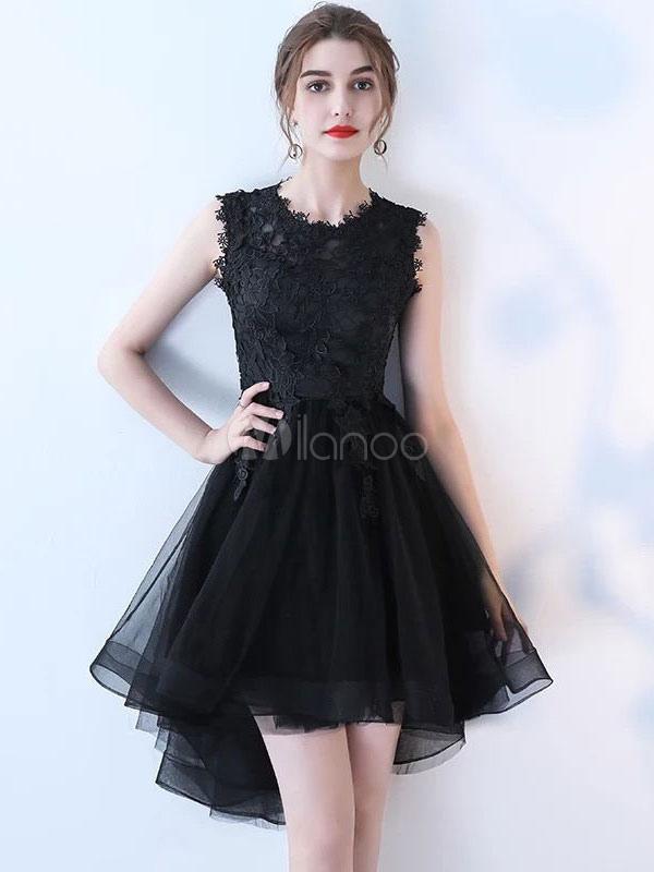 Vestidos de fiesta negros con encaje
