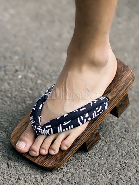 Sandalias Japoneses Madera Zapatos Chanclas Geta De Disfraces N0PnwZ8OkX