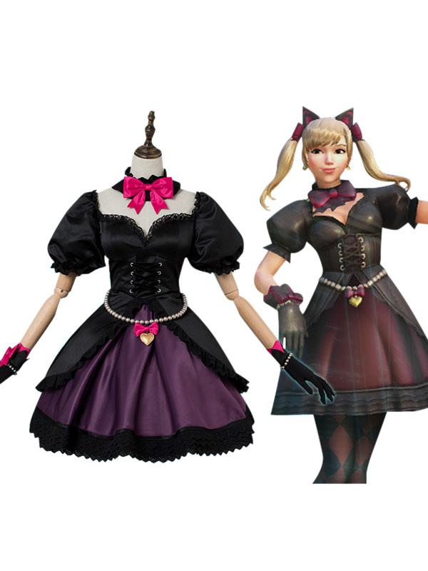 Overwatch OW D.va Hana Song Black Cat Cosplay Costume