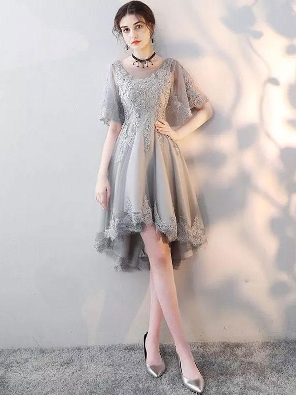 Vestido gris de coctel