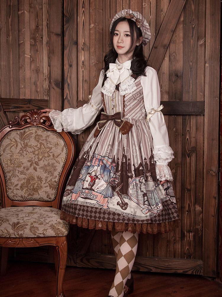 Hinana -Platinum Banquet- Vintage Classic Lolita OP Dress
