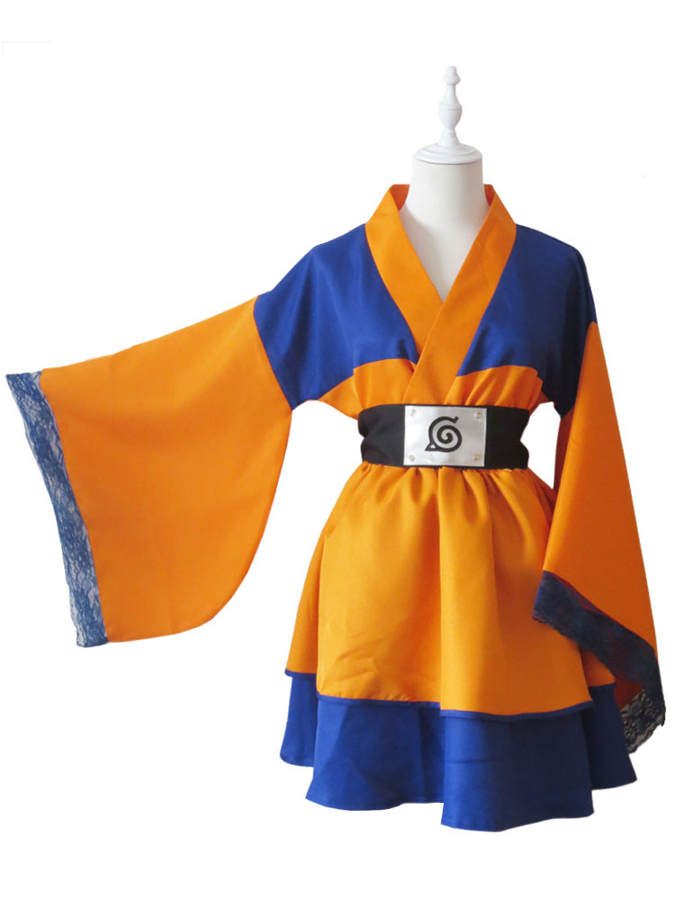 Buy Naruto Uzumaki Naruto Halloween Cosplay Costume Kimono Lolita Dress for $83.69 in Milanoo store