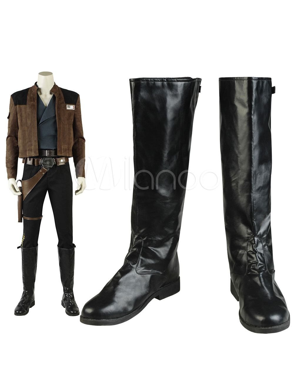 Han Solo Hot Movie Solo A Star Wars Story Cosplay Men Black Fashion Shoes Boots