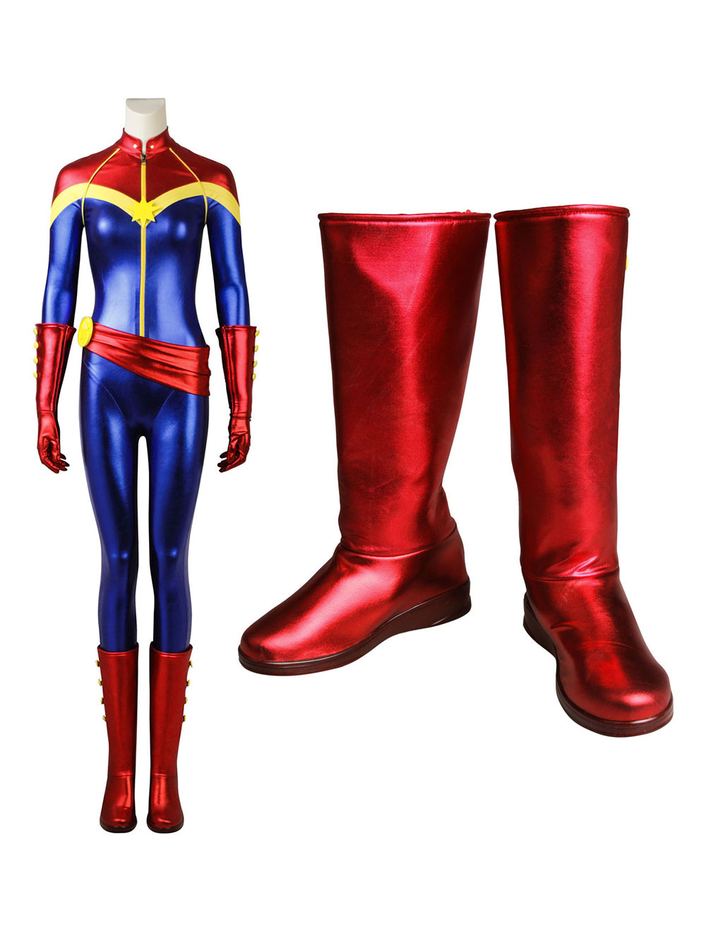 Captain Marvel Ms Marvel Kara Danvers Carnival Cosplay Shoes Milanoo Com Avengers captain america civil war steve roger cosplay costume boots boot uk. captain marvel ms marvel kara danvers carnival cosplay shoes