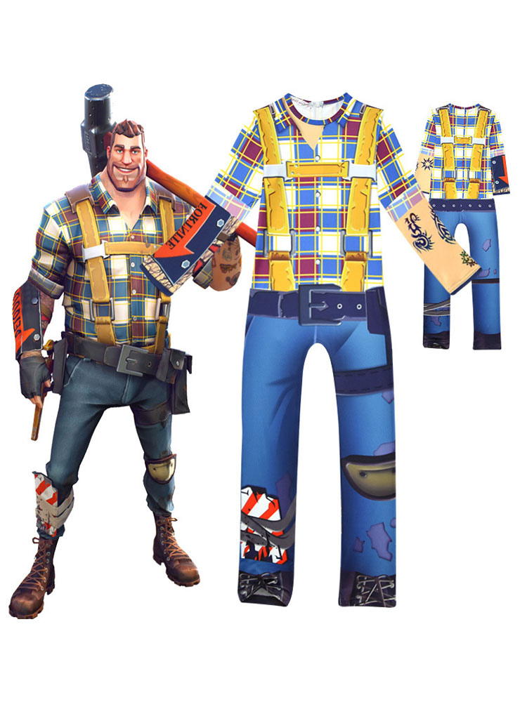 Fortnite Halloween Kid Cosplay Costume Jumpsuit For Boys Milanoo Com