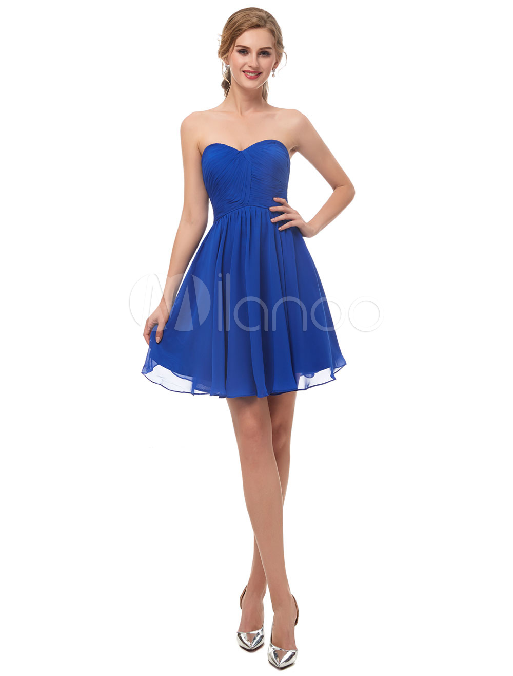 45d75d3ca Vestido de fiesta azul francia corto - Vestidos a la moda en España ...
