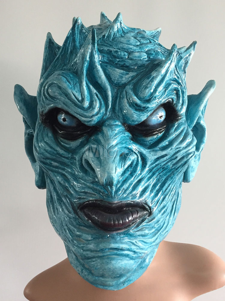 Buy Game Of Thrones Walker Night's King Mask Blue Halloween Costume Accessories for $17.09 in Milanoo store
