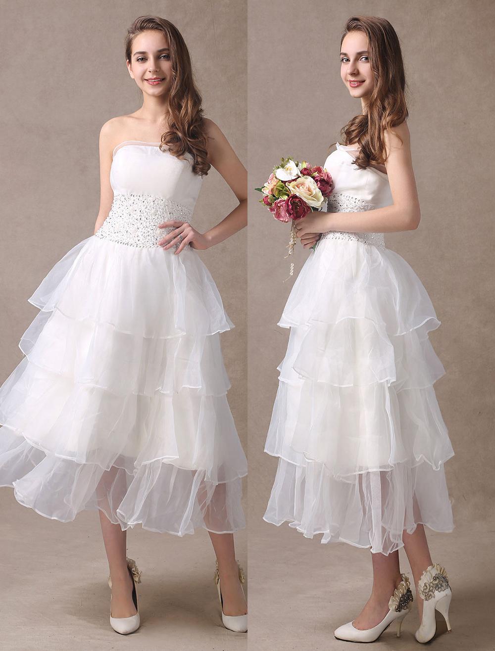 Tiered Tea Length Dresses