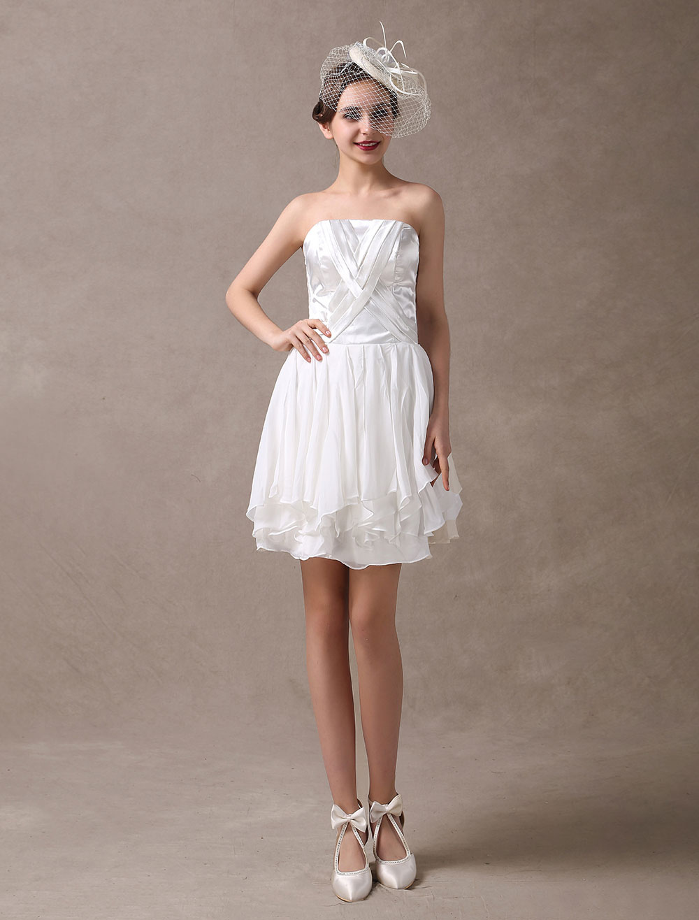 Short Wedding Dresses Vintage Strapless