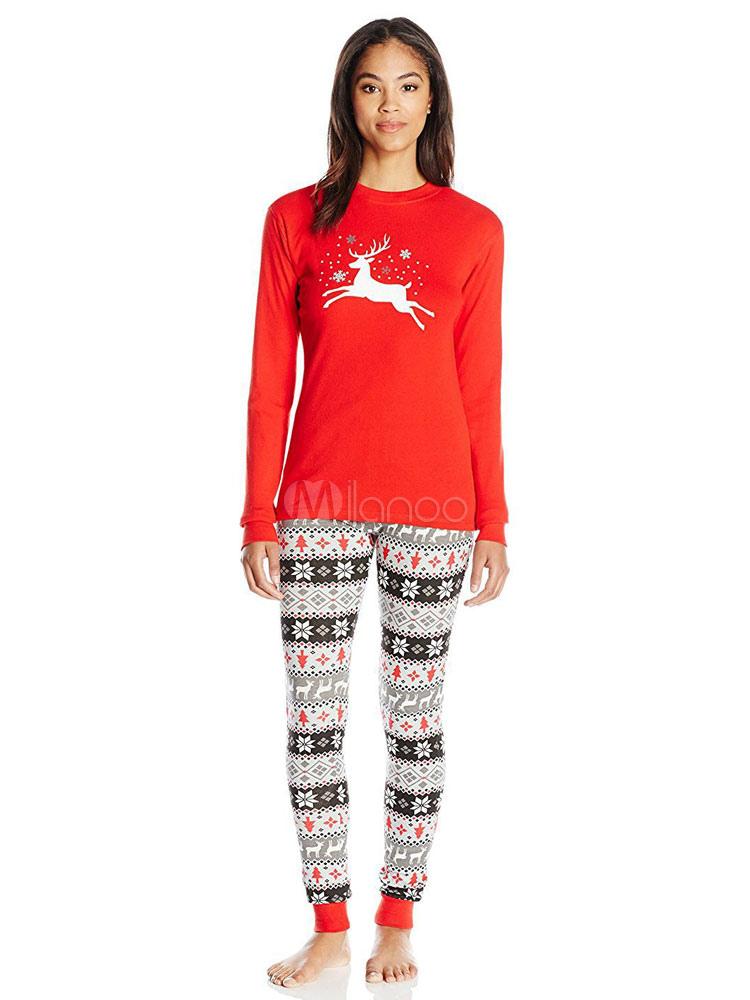 Matching Family Christmas Pajamas Mother Printed Top And Pants 2 Piece Set  For Women-No ... 5f08da181