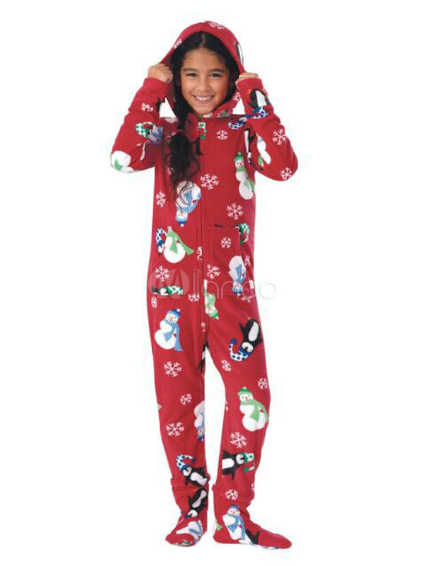 Jumpsuit Weihnachten.Matching Family Christmas Pajamas Kids Red Printed Long Sleeve Jumpsuits For Children