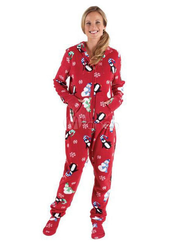 Pyjama Mere Noel Pyjama de Famille Assorti Noël 2020 Mère Rouge Imprimé Manche