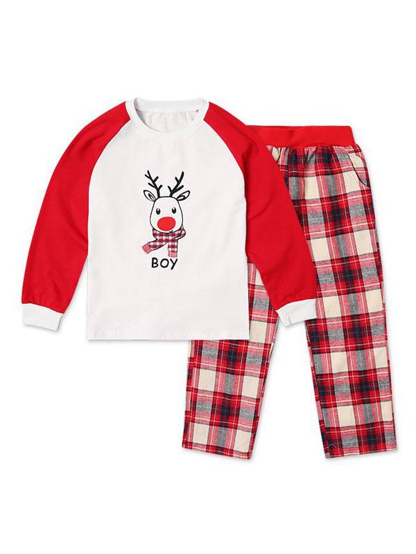 818be14961 ... un Juego de Familia Navidad Pijamas Niños Cuadros Rojos Impreso Top y  Pantalones 2 Piezas Juego