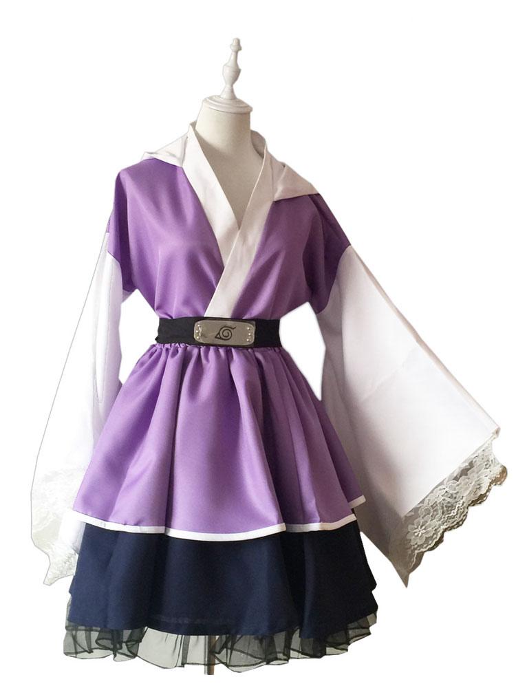 Anime Hyuga Hinata Cosplay Costume Uniform Purple Women Kids Halloween Full Set