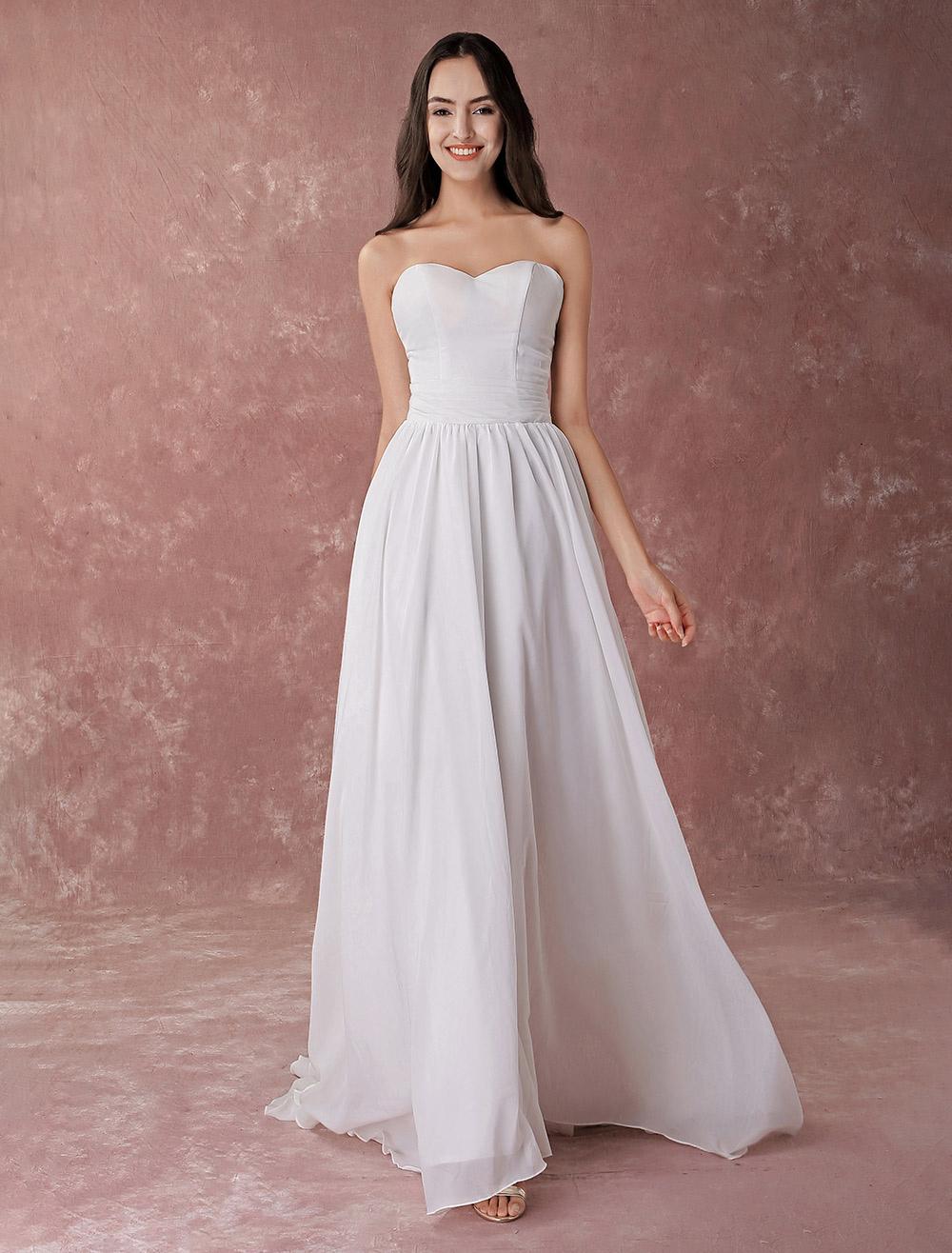 Sweetheart Neckline Beach Wedding Dresses