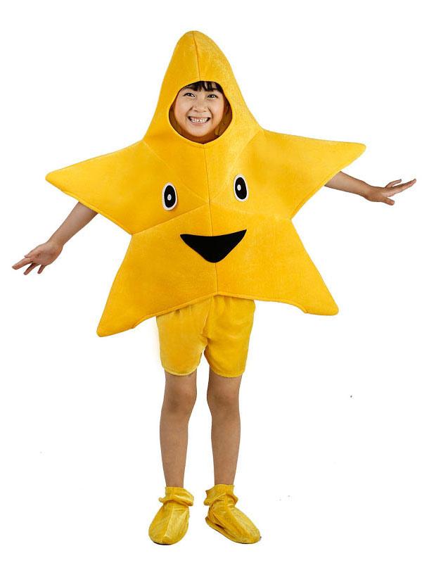 Vestito Da Stella Di Natale.Costume A Forma Di Stella Natale 2019 Costume Giallo In Velluto Per Bambini Halloween Outfit Da 3 Pezzi