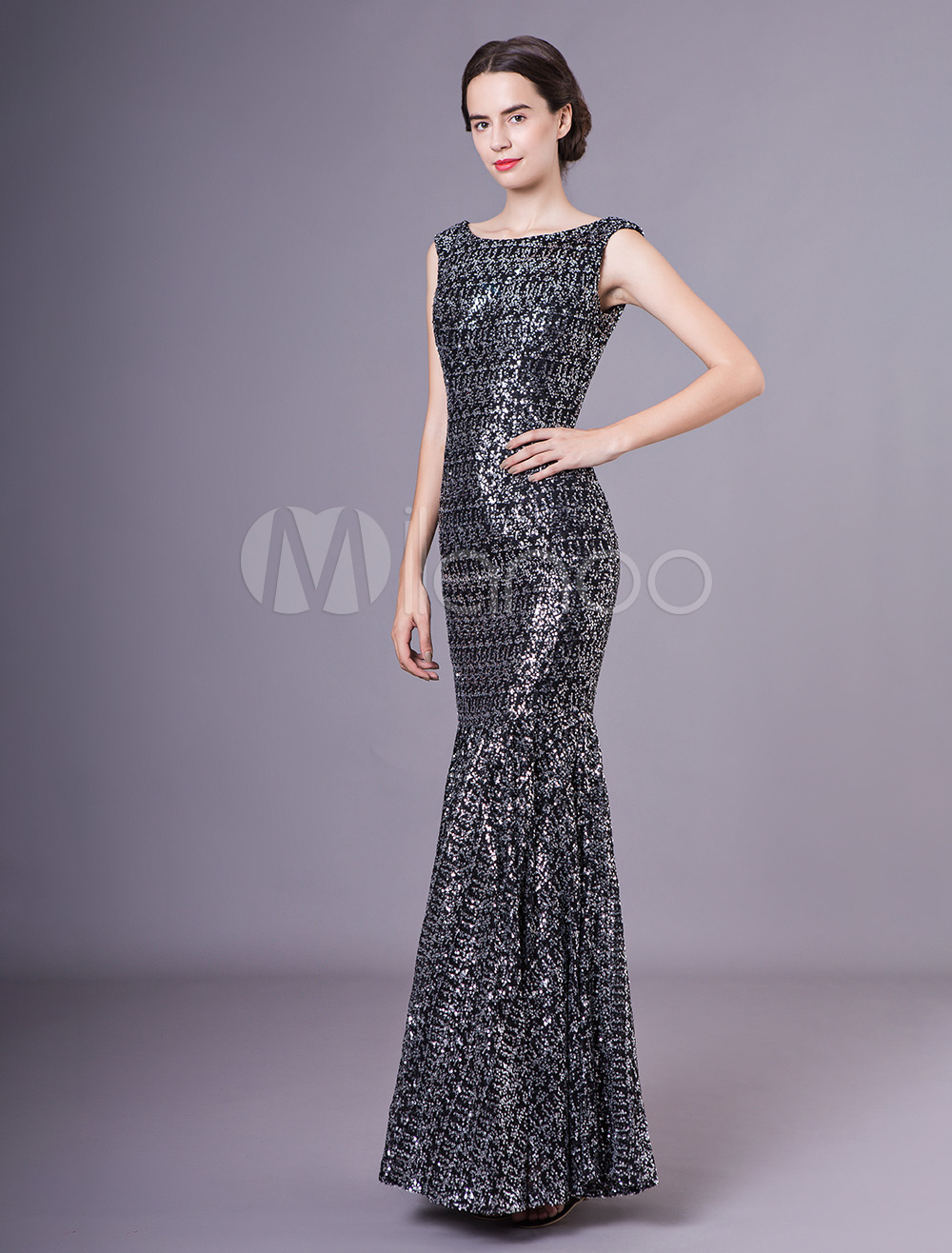 4ddd537b3a6 Black Sequin Cocktail Gowns