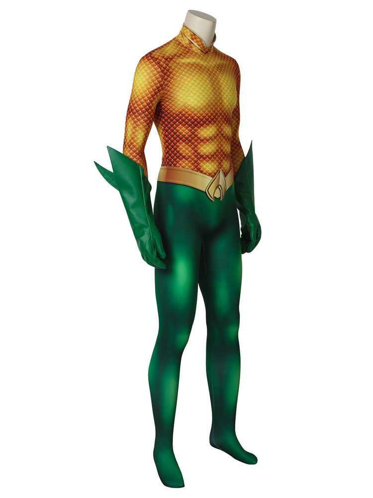 5736602b1933 ... Aquaman 2019 Movie Arthur Curry Halloween Cosplay Costume Zentai Suit-No.3  ...
