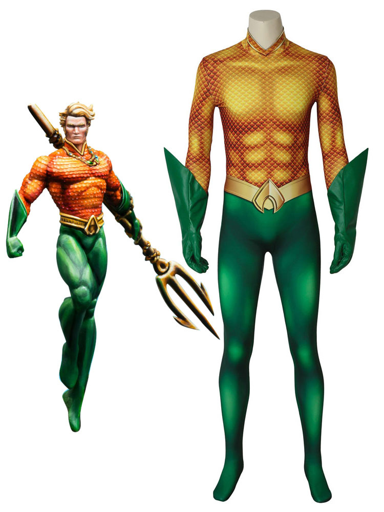 713d3a22f013 Aquaman 2019 Movie Arthur Curry Halloween Cosplay Costume Zentai Suit-No.1  ...