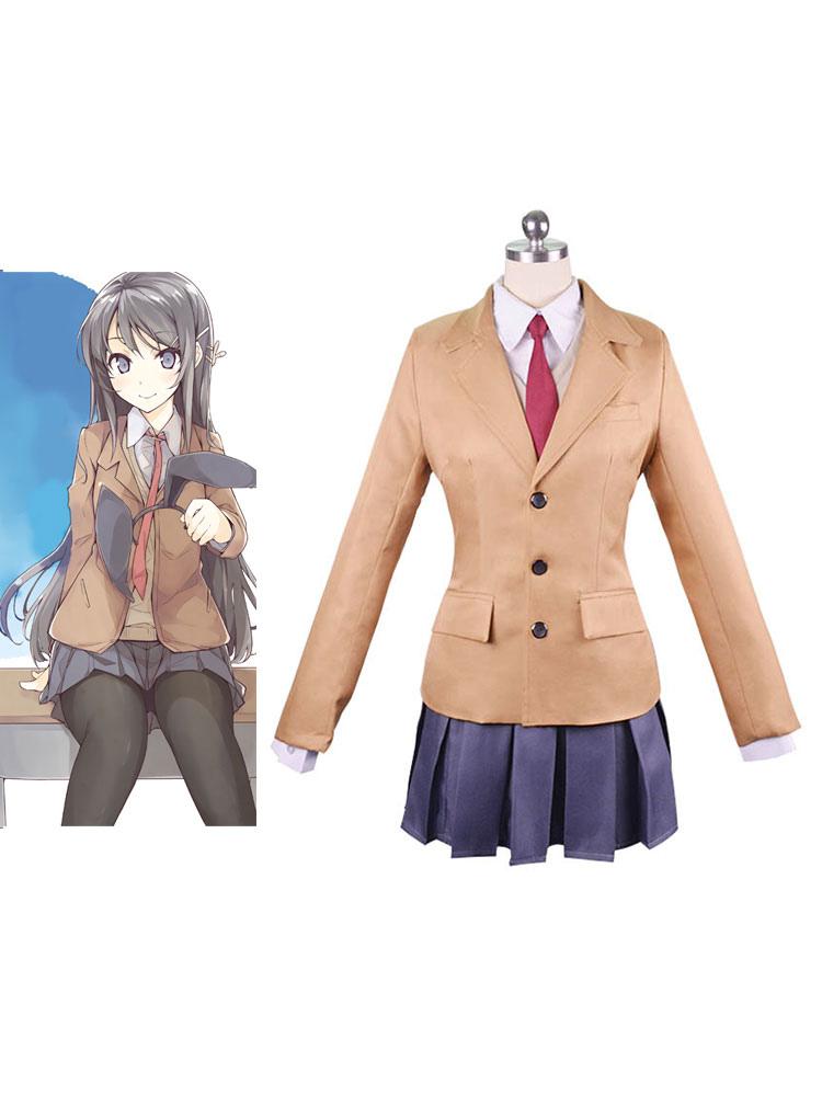 Rascal Does Not Dream of Bunny Girl Senpai Costume Mai Sakurajima Cosplay Outfit