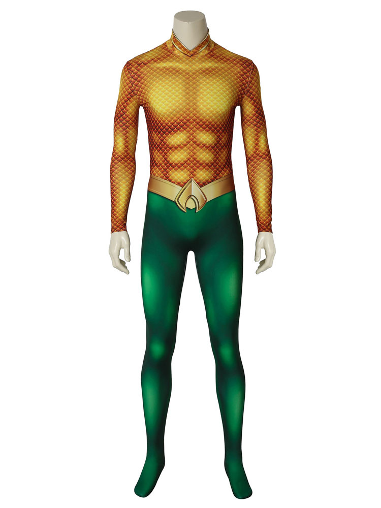 11d330db17fd ... Aquaman 2019 Movie Arthur Curry Halloween Cosplay Costume Zentai Suit-No.6  ...
