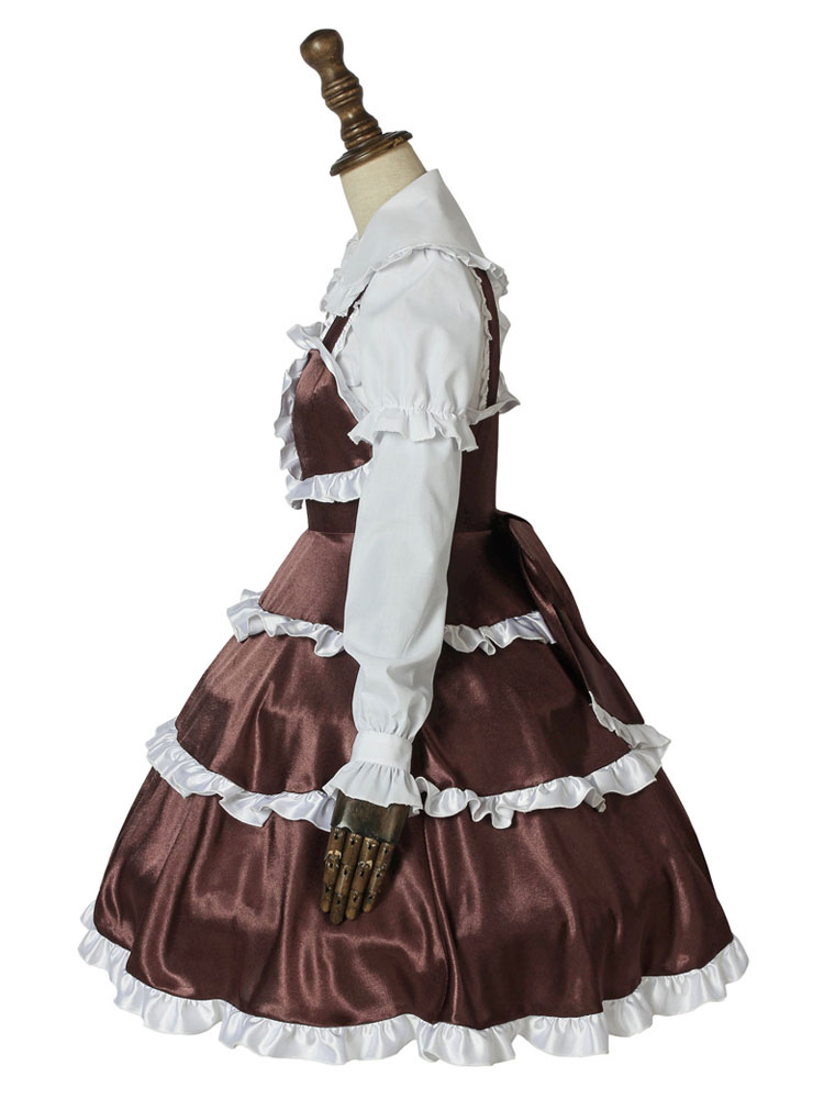 Dropkick on My Devil Costume Hanazono Yurine Anime Cosplay Lolita Girl Dress