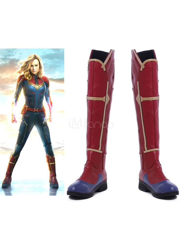 Captain Marvel 2021 The Movie Carol Danvers Halloween Cosplay Shoes Cosplayshow Com They are made by rubies and are made of a durable soft foam accented with glitter and gold details. captain marvel 2021 the movie carol danvers halloween cosplay shoes