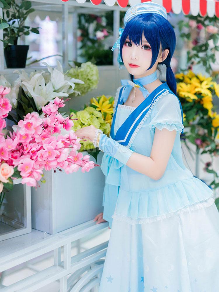 Love Nikki Nikki Cosplay Game Anime Blue Princess Lolita Dress Outfit - Milanoocom-8931