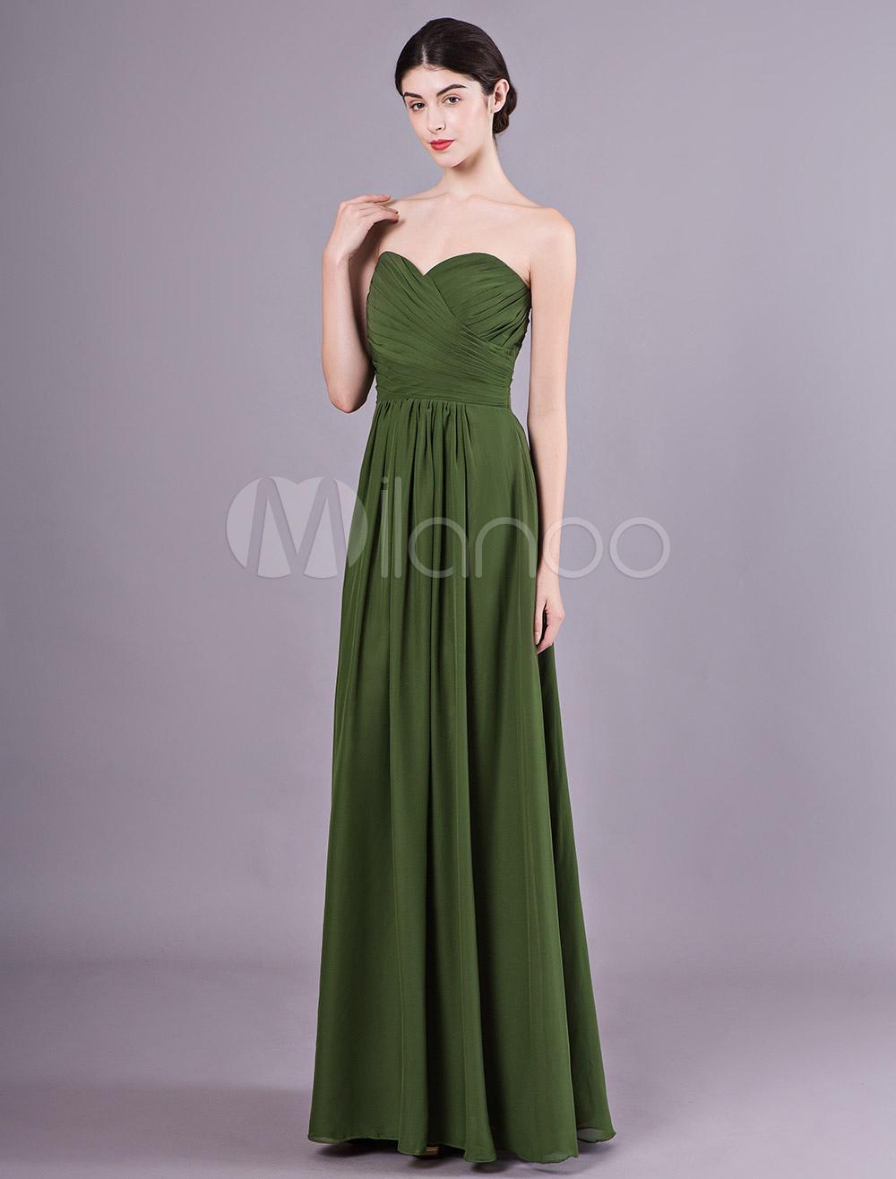 Chiffon kleid lang grun