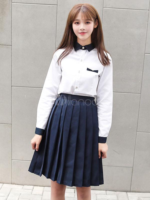 a4683d2326 Uniforme escolar coreano para niñas Uniformes de colegialas para el  verano-No.1