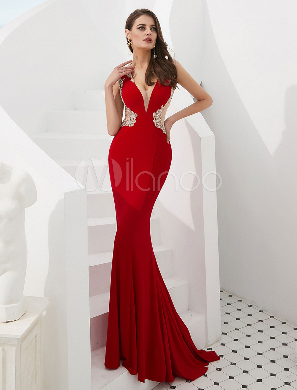 Abiti Da Sera Rossi.Abiti Da Sera Rossi Mermaid Luxury Sexy Prom Dress Abiti Da